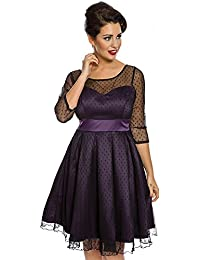 Lindy Bop Serephina Russian Violet Polka Dot Prom Dress