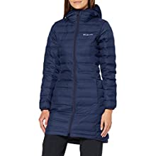Columbia Women's Full-Length Down Jacket with Hood, Lake 22, Nocturnal, Large