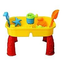 Oypla Childrens Outdoor Sand Water Table Spade Bucket Garden Sandpit