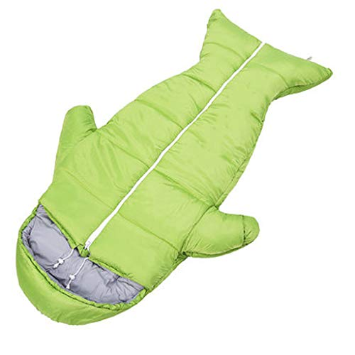 Outdoor-quilt (Jingdian THBEIBEI Kinder Schlafsack Outdoor Dicke Warme Schlafsack Indoor Anti-Kick Quilt Student Mittagspause Baumwolle Schlafsack (Color : Green, Size : 155cm*60cm))