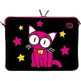 Kitty to Go LS142-10 Dreaming Designer Schutzhülle für Laptops und Tablets mit einer Bildschirmdiagonale von 25,9 cm (10,2 Zoll) pink-schwarz - gut und günstig