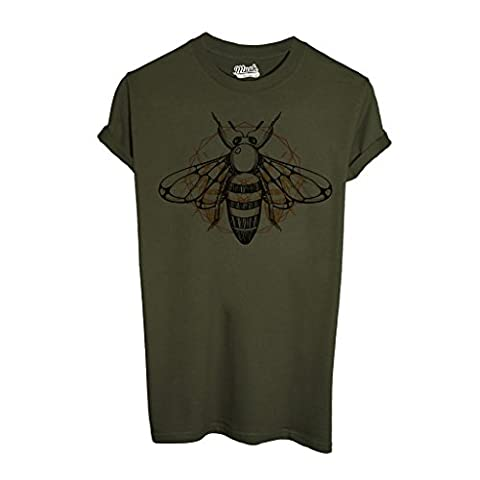 T-Shirt Bee Geometric Realistic - Mush By Mush Dress Your Style - Homme-L Vert militaire
