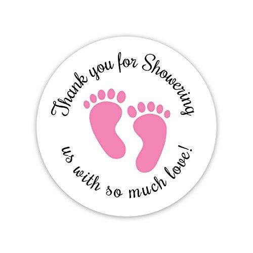 Orange Umbrella Co 0737356872646 Baby Shower Stickers Thanks For