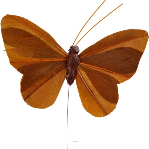 Artificielles - Papillons x 6 Chocolat l 8 5 x h 5 cm - Choisissez Votre Couleur: Chocolat