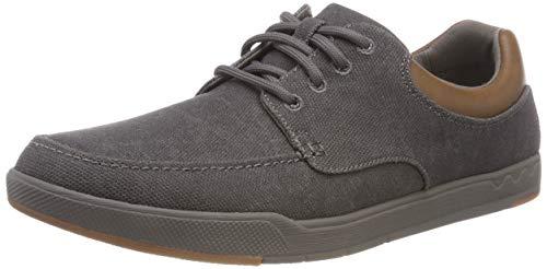 Clarks Step Isle Lace, Zapatos de Cordones Derby para Hombre, Gris (Dark Grey), 41.5 EU