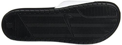 Nike Benassi JDI, Chaussures de Plage & Piscine mixte adulte Multicolore (Blanco / Negro (White / Black-Black))