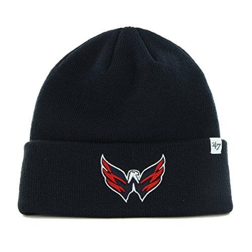47 Brand NHL Washington Capitals Raised Cuff Knit Beany Hat One Size Mütze Forty...