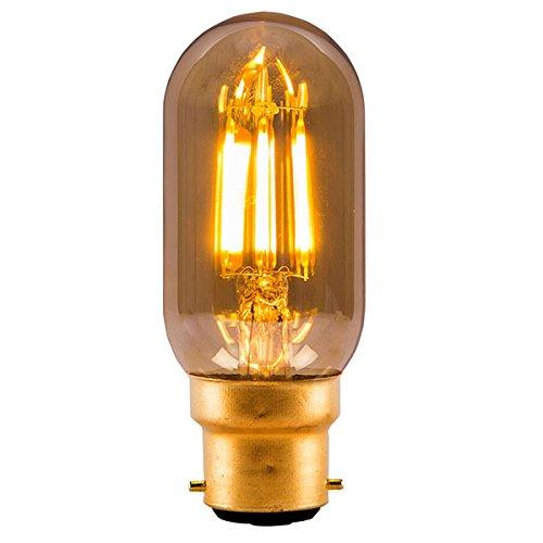 Amber Bell (Bell 4w LED Vintage Retro Lampe Amber / Bernsteingelb 2000k warmweiß (BC / B22 Röhrenform))