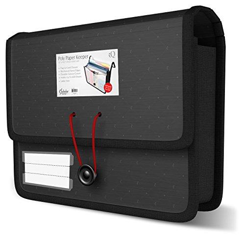 IQ ischolar Papier Keeper Tragetasche, 33x 26,7cm für bis zu 600Blatt, Farbe kann variieren (33400) (Reisedokument)