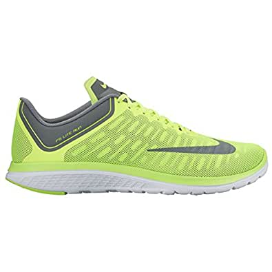 NIKE MENS FS LITE RUN 4 SHOES VOLT COOL GREY DARK GREY SIZE 10