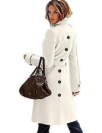 E Abbigliamento Bianco it Donna Amazon Cappotti Cappotti Giacche T6X4ppqCxn