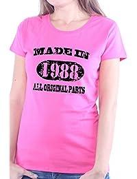 Mister Merchandise Femme Chemise T-Shirt Made in 1988 All Original Parts Years Jahre Geburtstag