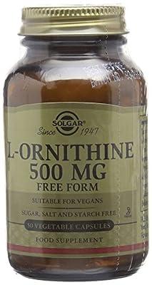 Solgar 500 mg L-Ornithine Vegetable Capsules - Pack of 50