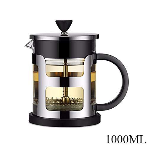 Aijin 600/1000 ml Edelstahl Französisch Druck Kaffeekanne