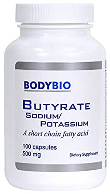 BodyBio/E-Lyte - Sodium-Potassium Butyrate 500 mg 100caps by BodyBio/E-Lyte