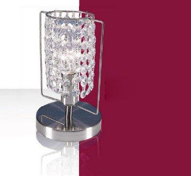- Chrom-kristall-tisch-lampe (Kristall Tisch Leuchte ↥250mm/ Silber/ Chrom/ Nacht Lampe Kristalllampe Kristallleuchte Nachttischlampe Nachttischleuchte Tischlampe Tischleuchte)