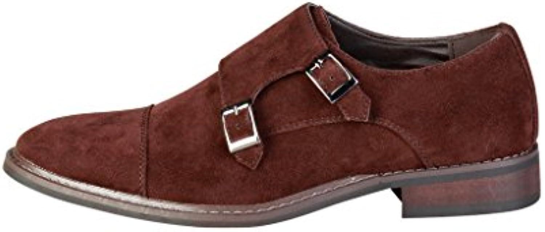 Pierre Cardin Hombre GR5011 Cuero Zapatos De Correa De Monje -