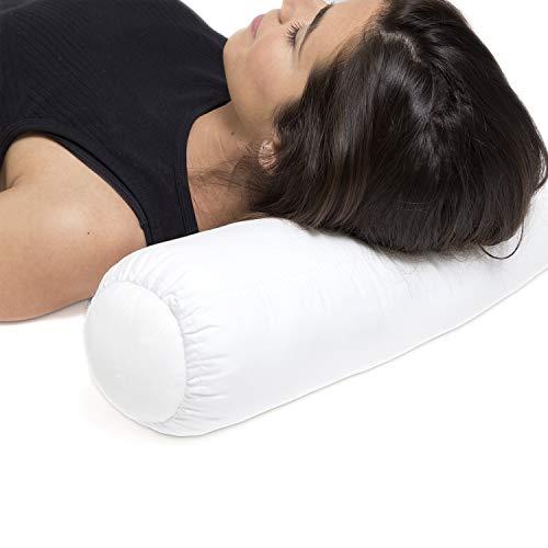 Ortones | Almohada/Cojín Cervical Lumbar Cilíndrico | Alivia el Dolor postural del Cuello y el Hombro...
