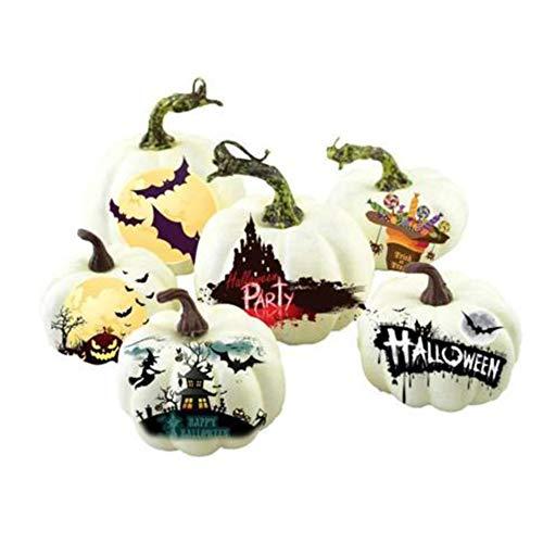 Renendi Halloween-Requisiten, 6 Stück, künstlicher Schaumstoff, DIY, Graffiti-Kürbis, Foto-Requisiten, Bar, Haus, Garten, Hof, Dekoration, Erntedankfest - Machen Kostüm Aus Schaumstoff
