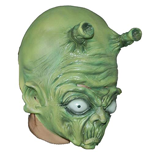 LJSHU Halloween Horror Alien Kopfbedeckung Erwachsene Kind Maske Dance Party Party Neuheit Kostüm Dekoration