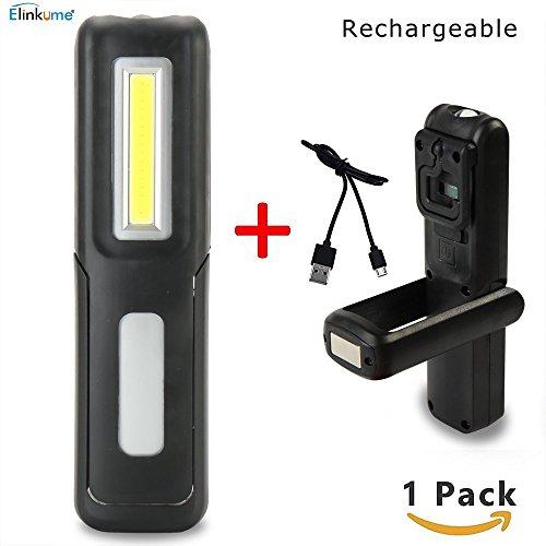 Arbeit Taschenlampe 3W COB LED wiederaufladbare Arbeitslicht Presse Schalter mit Starken Magnetismus und Verschluss Einfach zu Bedienen und Tragen 2 Modi (Mini-Stil, schwarz)