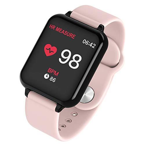 Orologio Digitale Orologio Fitness Cardiofrequenzimetro Da Polso Smart Watch Fitness Activity Tracker Pedometro Orologio Sport Per Donna Uomo Per Telefoni Android (Rosa)