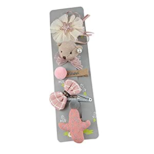 @Y.T Liebe Bogen Blume Haarnadel Mädchen 5 Stück Set Kinder Haarschmuck Kopfschmuck