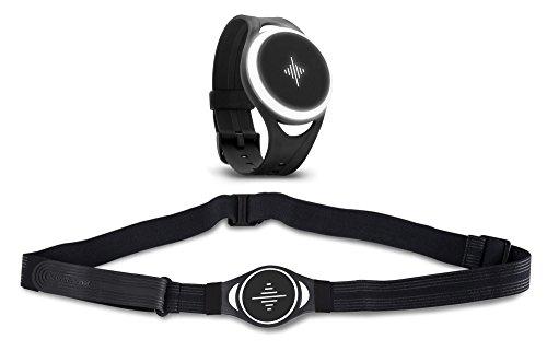 Soundbrenner Pulse Vibrations Metronom Set (Metronom Set inkl. Body Strap zur Befestigung am Körper, 1x kurzes Armband, 1x langes Armband) Schwarz