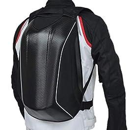 Per – Zaino da motocicletta, in fibra di carbonio, con guscio esterno rigido, impermeabile, ideale per ciclismo, sport…