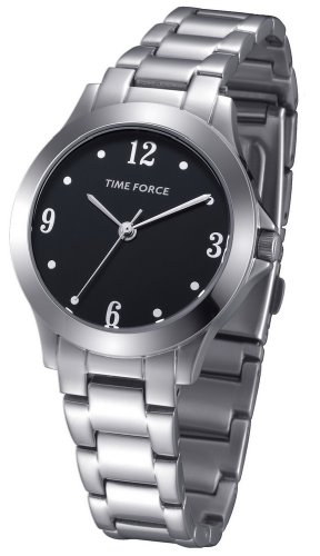 Time Force TF-4042L01M - Reloj analógico para Mujer. Correa de Acero inoxidable color Plateado.