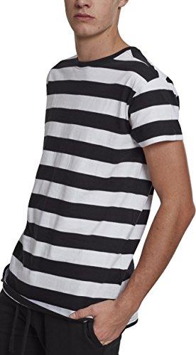 Urban Classics Herren Block Stripe Tee T-Shirt, Mehrfarbig (Black/White 00050), Large (Herstellergröße: L) -