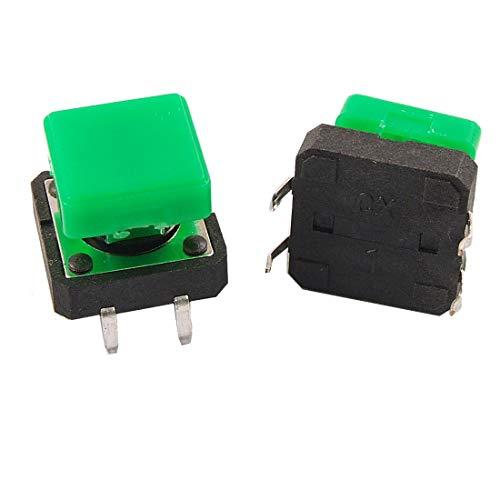 5 Stück PCB Momentary Tact Push Button Schalter, 12 x 12 x 13 mm 4 Pin DIP Cap Momentary Contact Push-button