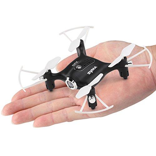 Syma X20 Mini Drohne UFO RC Quadcopter Nano Kleine Leichte Zimmer Drone Kinder Spielzeug Ferngesteuert Mit Kopflosem Modus und einer Taste Start /Landung 2,4 GHz 4CH 6-Achsen-Gyro RTF Quadrocopter(Schwarz)