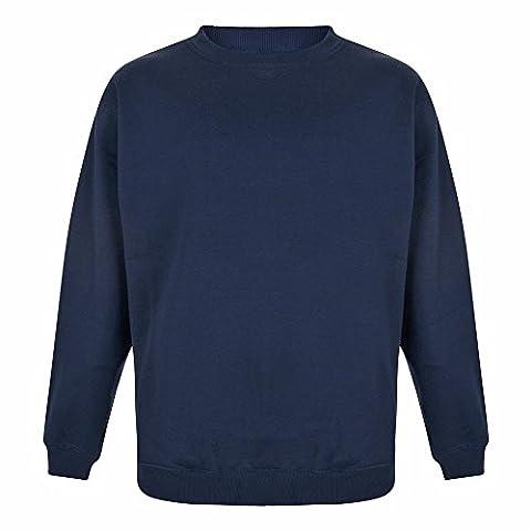 Duke Men's King Size-Basic Pull à col rond, Navy blue, XXXXX-Large