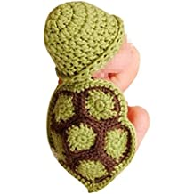 Tenflyer Estilo lindo de la tortuga para bebé Atrezzo fotografía del recién nacido hecho a mano