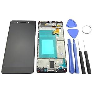 Huawei Honor 7 Display LCD Touchscreen mit Rahmen Komplett Modul Einheit Anzeige mit Werkzeug Schwarz - ToKa-Versand®