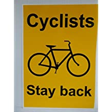 Advanced Printing Cyclists Stay Back. Awareness safety sticker for car & van drivers in urban traffic