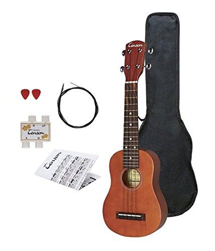 Tenson F502820 Miguel Almeria Ukulele Player Pack inkl. Gig Bag, Stimmpfeife, Ersatzsaiten, Grifftabelle und 2 Plektren