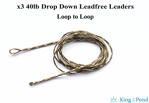 x3-lead-free-leaders-with-loop-to-loop-40lb-weedy-green