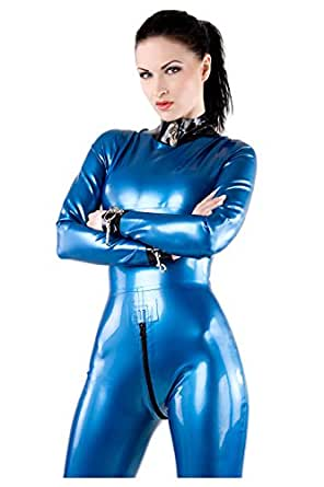 Westward Bound Tiziana Latex Rubber Catsuit Pearl Sheen