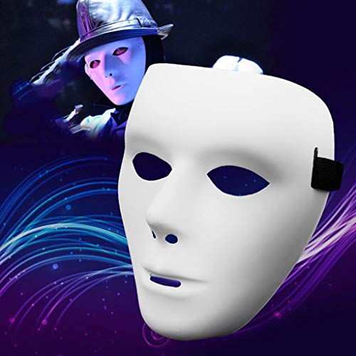 Gesicht Mystique Kostüm - QHJ Halloween Kostüm Party Maske Halloween PVC Maske Ritter Ghost Dance Hip Hop Maske Helloween Kostüm Party (D)