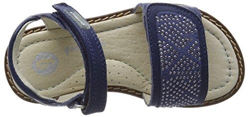 Garvalin 162611, Sandales ouvertes fille Bleu - Bleu jean