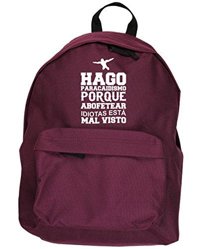 HippoWarehouse Hago Paracaidismo Porque Abofetear Idiotas Está Mal Visto kit mochila Dimensiones: 31 x 42 x 21 cm Capacidad: 18 litros