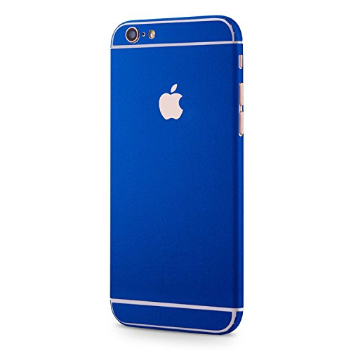 VAPIAO Brushed Metal Sticker Folie Skin Protector Schutzfolie für Apple iPhone 6, 6s in Blau