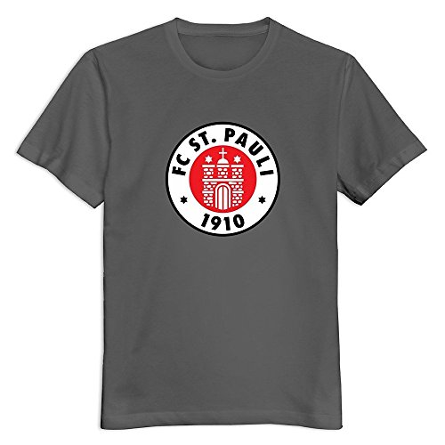 Men FC St. Pauli Logo O Neck Funny Quotes T-Shirt Medium