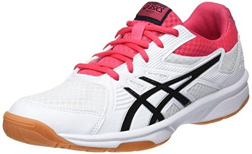 ASICS Upcourt 3, Scarpe da Squash Donna, Bianco (White/Pixel Pink 101), 40.5 EU
