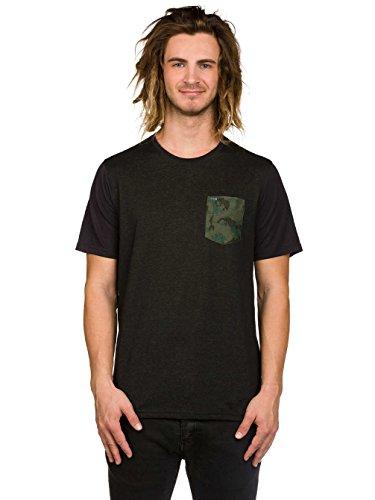 Herren T-Shirt Hurley Dri-Fit Lagos Pocket Crew T-Shirt Black