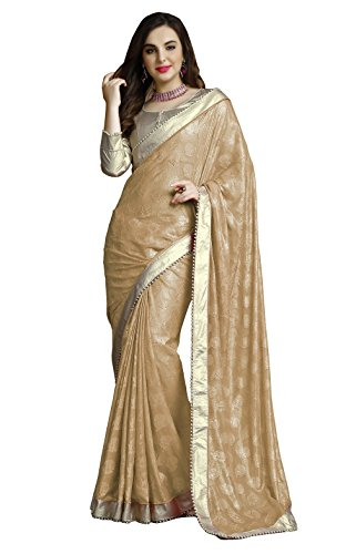 Chigy Whigy Beige Jacquard party wear Sarees