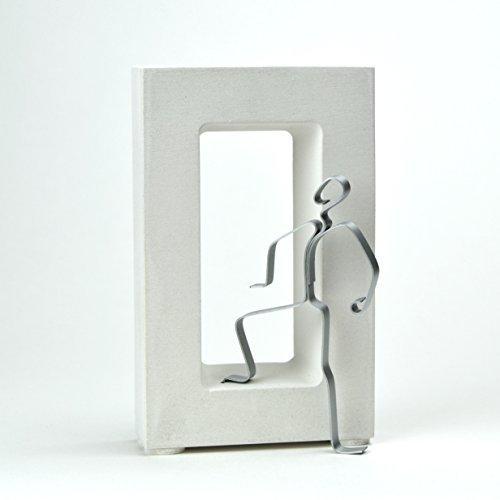 Geschenk zur bestandenen Prüfung: DER DURCHBRUCH!, Skulptur, Figur, Sandsteinguss/ Metall