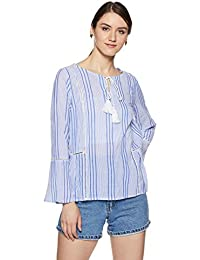 Amazon Brand - Symbol Women's Striped Regular Fit Top